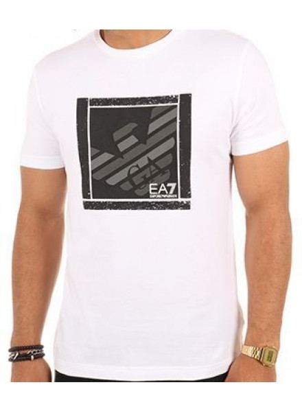 EA7 WHITE T-SHIRT MAN
