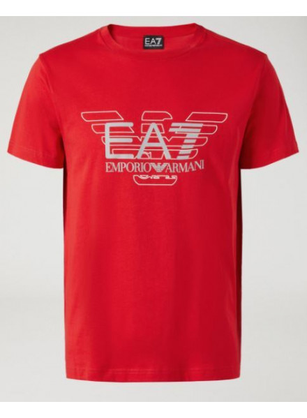 EA7 T-SHIRT MAN RACING RED