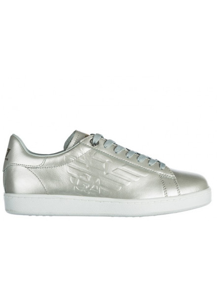 EA7 SNEAKERS SILVER WOMEN