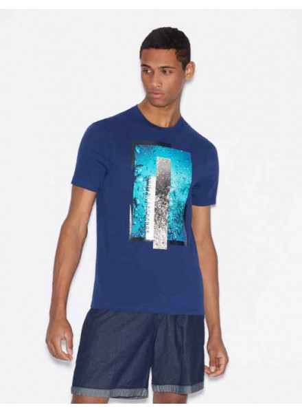 Armani Exchange Blue Depth Man T-Shirt