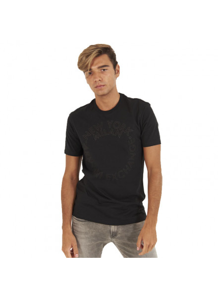 Armani Exchange Black T-Shirt Man