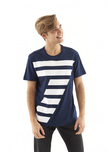EA7 Navy Blue T-shirt Man
