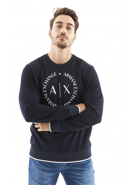 Armani Exchange Navy Sweatshirt Man
