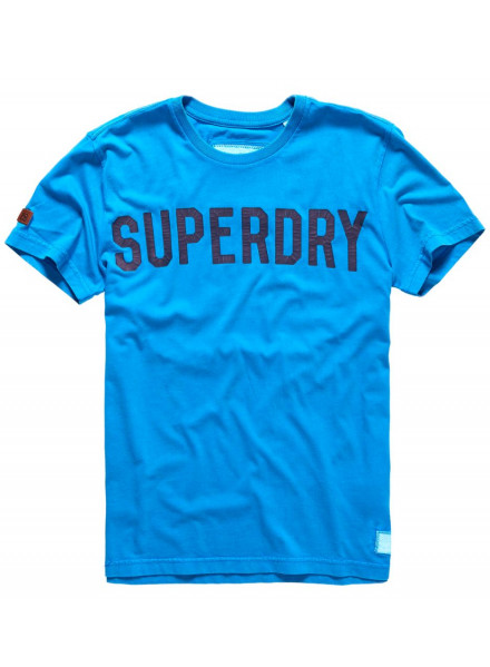 SUPERDRY SOLO SPORT NEW BLUE SHIRT MAN