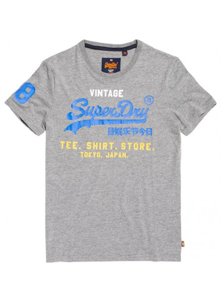SUPERDRY SHIRT SHOP TRI MONTANA GREY TSHIRT MAN