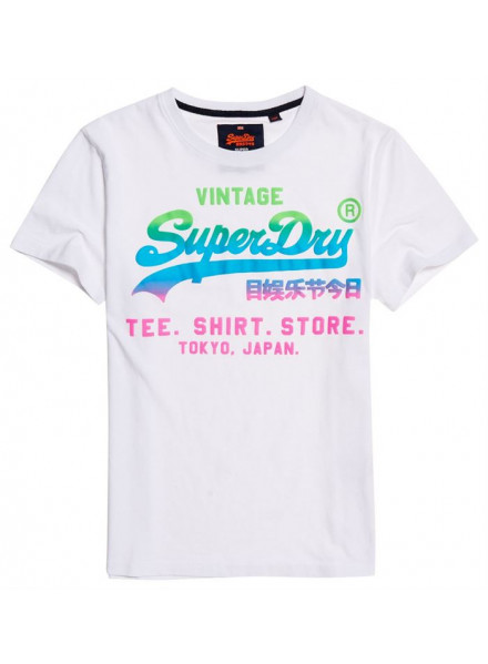 SUPERDRY LOGO HYPER FADE OPTIC TSHIRT MAN