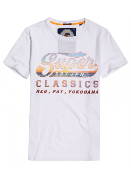 SUPERDRY LITE WEIGHT SWOOSH WHITE TSHIRT MAN