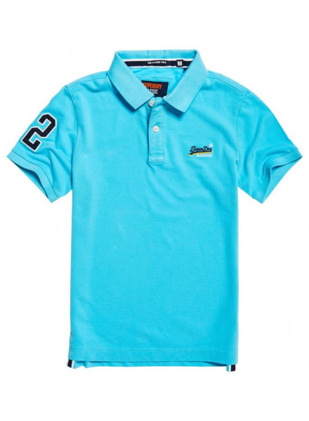 SUPERDRY CLASSIC PIQUE BARBADOS BLUE POLO MAN