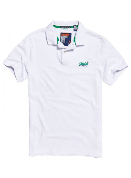 POLO SUPERDRY CLASSIC PIQUE OPTIC WHITE MAN