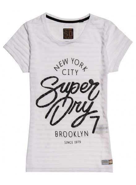 SUPERDRY NYC BURNOUT OPTIC WOMAN T-SHIRT