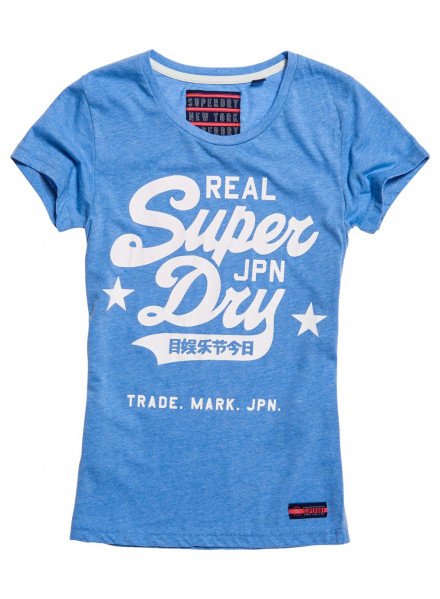 SUPERDRY REAL VINTAGE SEAFOAM BKUE MARL WOMAN T-SHIRT