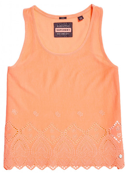 SUPERDRY PACIFIC BRODERIE REEF CORAL WOMAN T-SHIRT