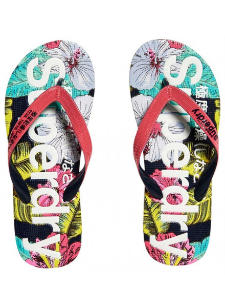 SUPERDRY AOP POP HIBISCUS WOMAN FLIP-FLOPS