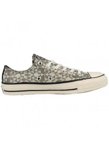 CONVERSE SHOES CHUCK TAYLOR ALL STAR RAFFIA BLACK/WHITE WOMEN