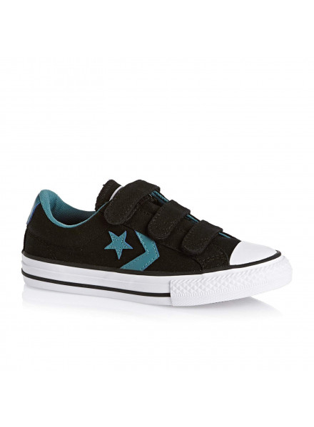 CONVERSE SHOES STAR PLAYER ALL STAR CANVAS BLACK KIDS