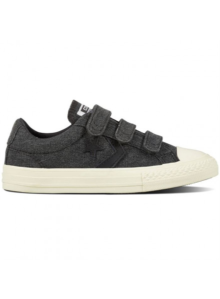 CONVERSE ALL STAR PLAYER 3V KIDS GREY SHOES