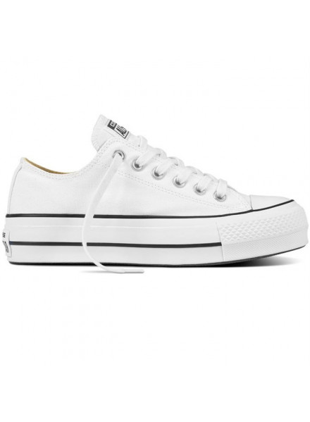 CONVERSE CHUCK TAYLOR PLATFORM WHITE WOMAN SHOES