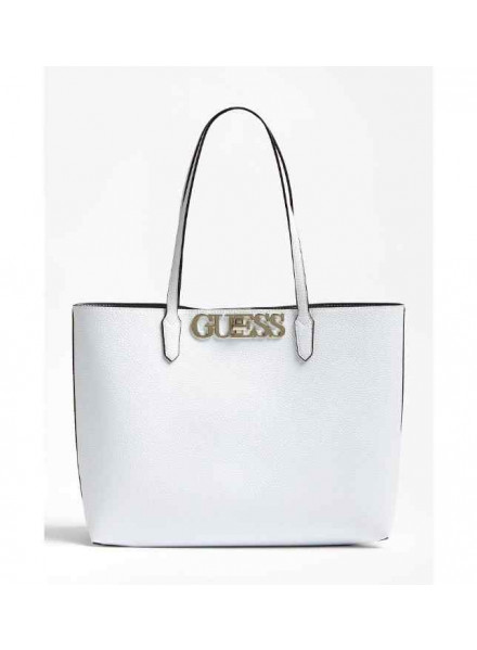 Guess Uptown Chic Barcelona Tote White Woman Bag