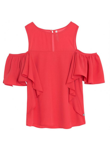 PEPE JEANS MINA CRISPY RED WOMAN SHIRT