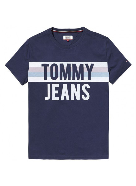 TOMMY HILFIGER COLORBLOCK BLACK IRIS T-SHIRT