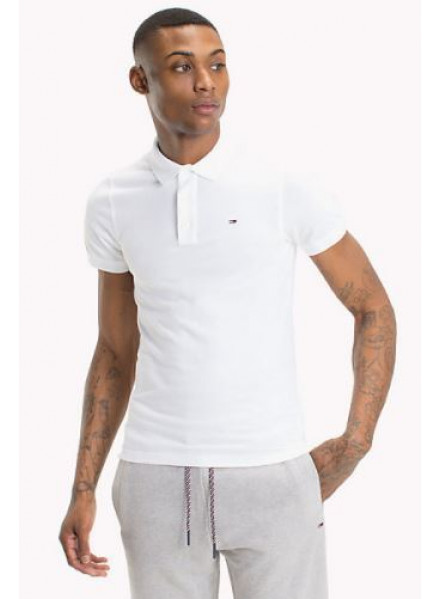TOMMY HILFIGER PIQUE CLASSIC WHITE MAN POLO