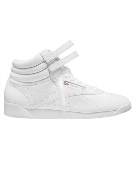 REEBOKS CLASSIC FREESTYLE HI SHOES WHITE WOMAN