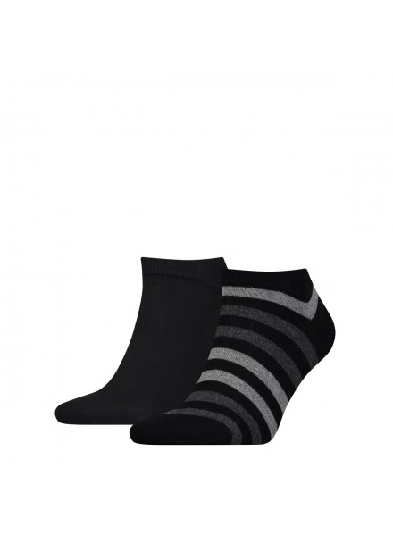 TOMMY HIFIGER DUO STRIPE BLACK SOCKS
