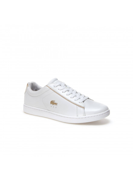 LACOSTE CARNABY EVO 118 6 WHITE SHOES WOMAN