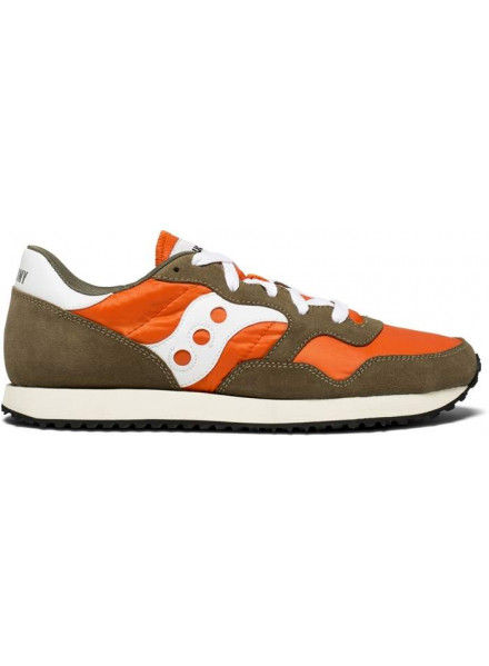 SAUCONY JAZZ VINTAGE OLIVE & ORANGE SHOES MAN