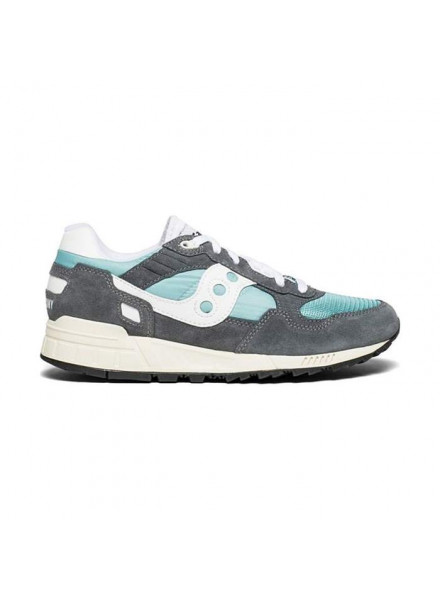 SAUCONY SHADOW 5000 VINTAGE GREY AND BLUE SHOES MAN