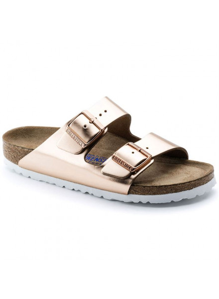 BIRKENSTOCK ARIZONA SFB METALLIC COPPER WOMAN SANDALS