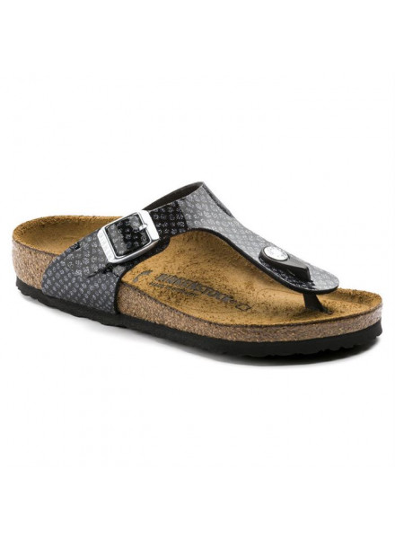 BIRKENSTOCK GIZEH SNAKE BLACK WOMAN SANDALS