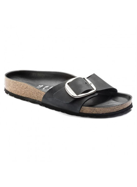 BIRKENSTOCK MADRID BIG BUCKIE BLACK WOMAN SANDALS