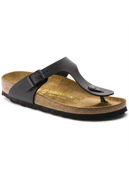 BIRKENSTOCK GIZEH BLACK SANDALS WOMAN