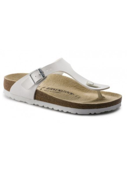 BIRKENSTOCK GIZEH WHITE WOMAN SHOES