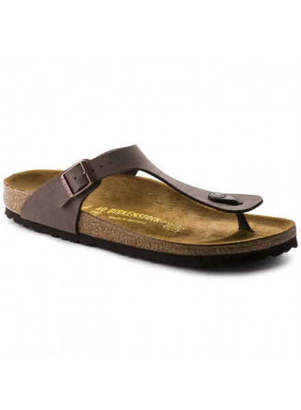 BIRKENSTOCK GIZEH BROWN SANDALS WOMAN