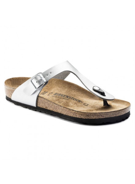 BIRKENSTOCK GIZEH SILVER SHOES