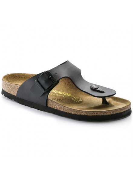 BIRKENSTOCK GIZEH BLACK SANDALS MAN