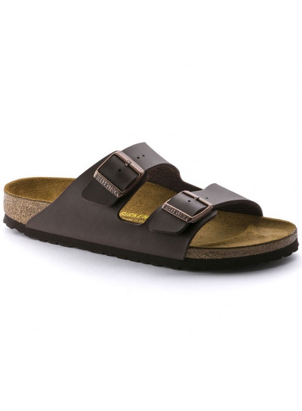 BIRKENSTOCK ARIZONA BROWN SANDALS WOMAN