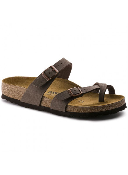 BIRKENSTOCK MAYARI BROWN SANDALS WOMAN