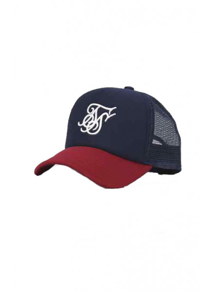 Siksilk Foam Trucker Red & Navy Man Hat