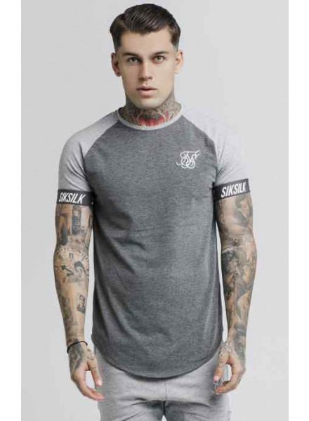Siksilk Contrast Tech Grey Marl Man t-Shirt