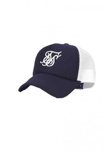 Siksilk Foam Trucker Navy Man Hat