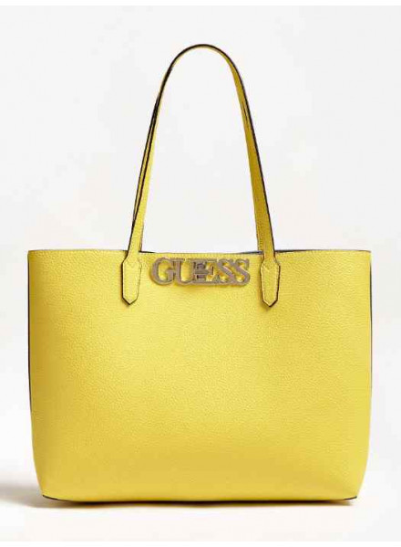 Guess Uptown Chic Barcelona Tote Lime Woman Bag