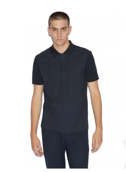 ARMANI EXCHANGE PINSTRIPE NAVY/WH MAN POLO