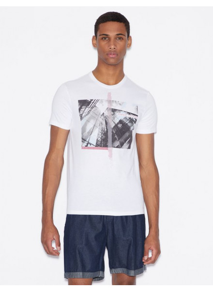ARMANI EXCHANGE WHITE MAN T-SHIRT