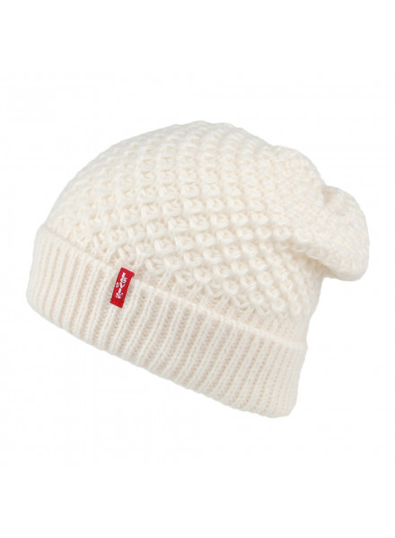 Levis Classic Knit Beanie Cream Hat