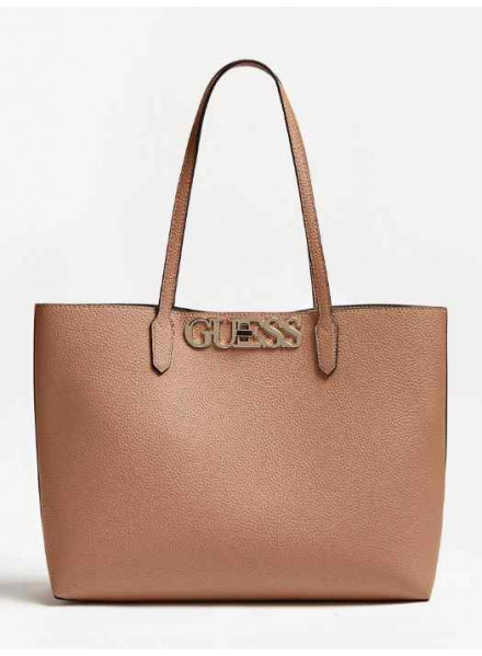 Guess Uptown Chic Barcelona Tote Tan Woman Bag