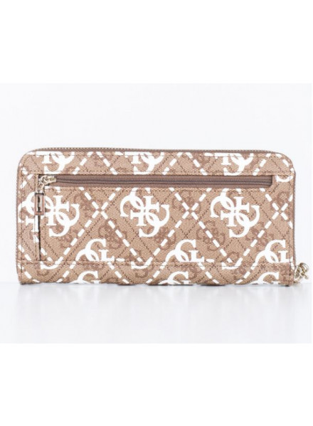 Guess Vikky SLG Large Zip Around White Multi Wallet