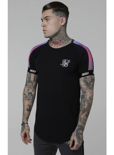 Sik Silk Raglan Panel Fade T-Shirt